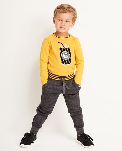 Pantalon molletonné gris